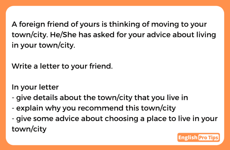 General Task 1 Living in your city